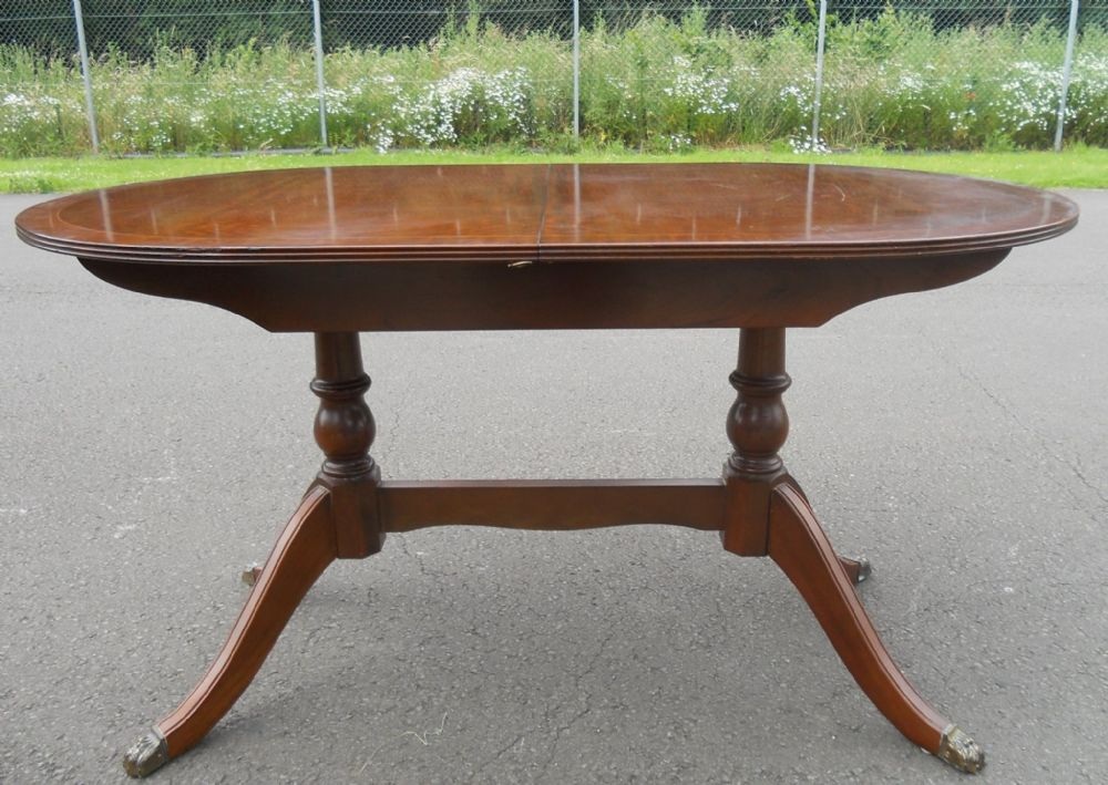 Small Mahogany Extending Dining Table by Strongbow